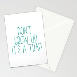 Don't Grow Up It's A Trap, Kids Room Decor, Baby Room Wall Art, Gift For Kid Stationery Cards