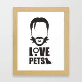 Love pets Framed Art Print