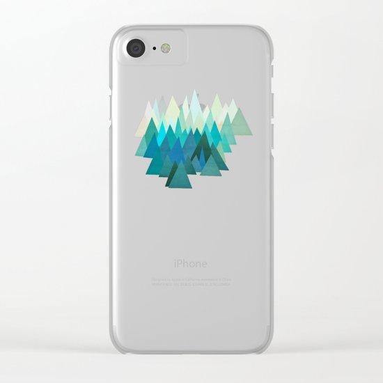 Cold Mountain Clear iPhone Case