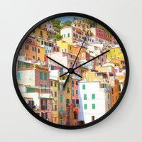 italy Wall Clocks featuring Italy by GF Fine Art Photography