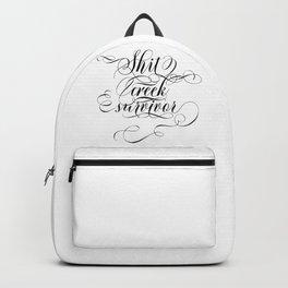 Shit creek survivor (black text) Backpack
