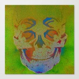4i skull stencil art - white Canvas Print