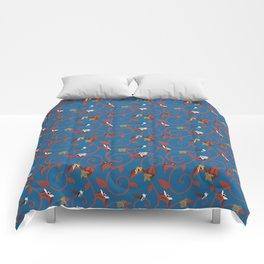 Blue Bug Swirl Comforters