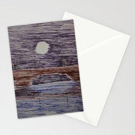 Bridge at night Stationery Cards
