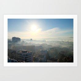 Belgrade / Morning Fog Art Print