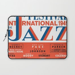Vintage 1949 Paris International Jazz Festival Poster Laptop Sleeve