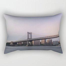 Manhattan Bridge at Sunset Rectangular Pillow