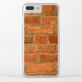 Textura: Old Brick Wall Clear iPhone Case