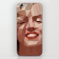 marilyn iPhone & iPod Skins featuring marilyn by gazonula