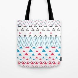 Watercolor hand painted pink blue black tribal geometrical Tote Bag