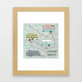 Get Your Kicks Framed Art Print