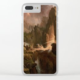 Thomas Cole - Expulsion from the Garden of Eden, 1828 Clear iPhone Case