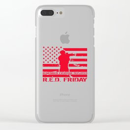 RED Friday Clear iPhone Case