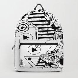 Egyptian God Anubis Face 5 Backpack