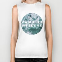 vampire weekend Biker Tanks featuring Vampire Weekend by Van de nacht