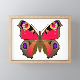Peacock Butterfly Framed Mini Art Print