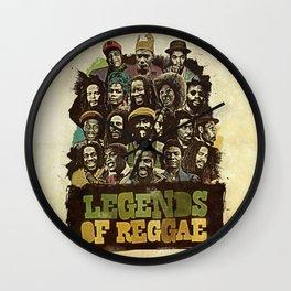 Legends of Reggae Poster Wall Clock