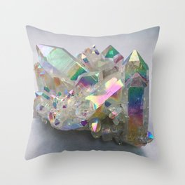Opal Aura Quartz #10 Throw Pillow
