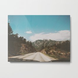 On the open road  Metal Print