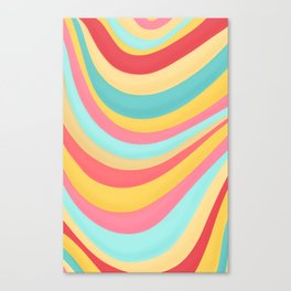 Candy Curves Canvas Print
