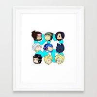 dmmd Framed Art Prints featuring DMMD- chibis by prpldragon