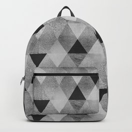 GRAPHIC PATTERN Funky geometric triangles | silver Backpack