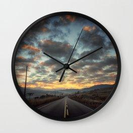 Road to Sunrise Wall Clock