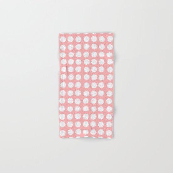 milk glass polka dots pink Hand & Bath Towel