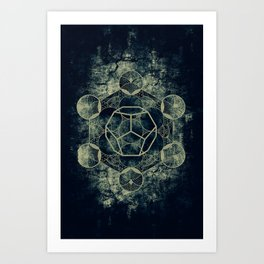 Sacred Geometry for your daily life -  Platonic Solids - ETHER Art Print