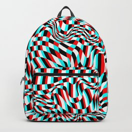 TEZETA (warped 3D geometric pattern) Backpack