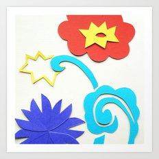 Garden Lightning Papercut Art Print