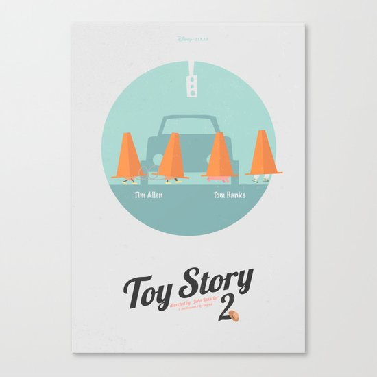 Toy Story 2 - minimal poster Canvas Print
