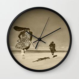 Jumping Happy Togetter Wall Clock