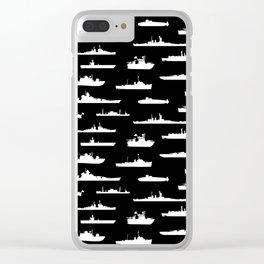 Battleship // Black Clear iPhone Case