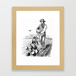 Sowing Fear Framed Art Print
