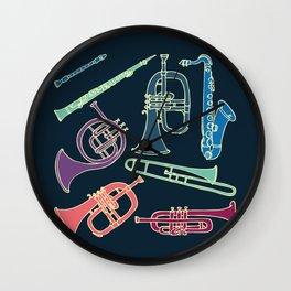 Wind instruments Wall Clock