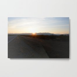 Desert Sunrise Metal Print
