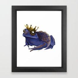 Psychedelic Blue Frog Framed Art Print