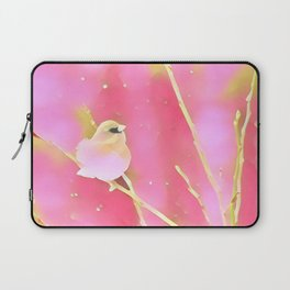 Junco Pink Yellow by CheyAnne Sexton Laptop Sleeve