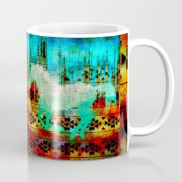 A southwest winter horse Coffee Mug