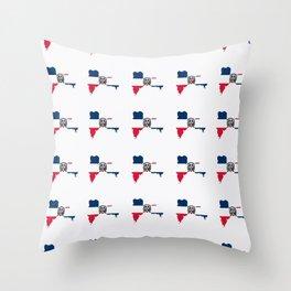 flag of the dominican republic 3-dominican,hispaniola,dominicana,antilles,caribean,santo domingo Throw Pillow