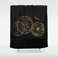 gypsy Shower Curtains featuring Gypsy by Sherri of Palm Springs   Art and Design