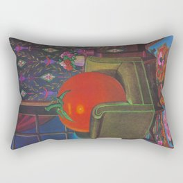 Therapy With A Tomato Milton Glaser - Tomato- Something unusual is going on here - 1978 Rectangular Pillow