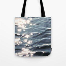 Sunlight on Ocean Water Waves Tote Bag