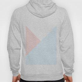 Modern pastel pink blue white geometrical triangles Hoody