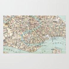 Vintage Venice Map Rug