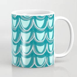 Mermaid Teal Pattern Coffee Mug