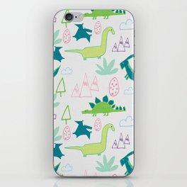 Dino Fun land Grey iPhone Skin