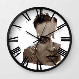 FRIDA - SHIRT version - sepia Wall Clock