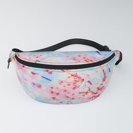 Cherry pink blossoms watercolor painting #16 Fanny Pack